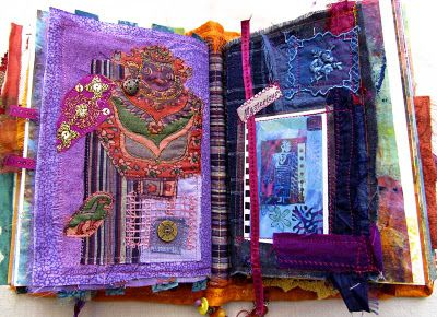 Incorporating fabric into journals!