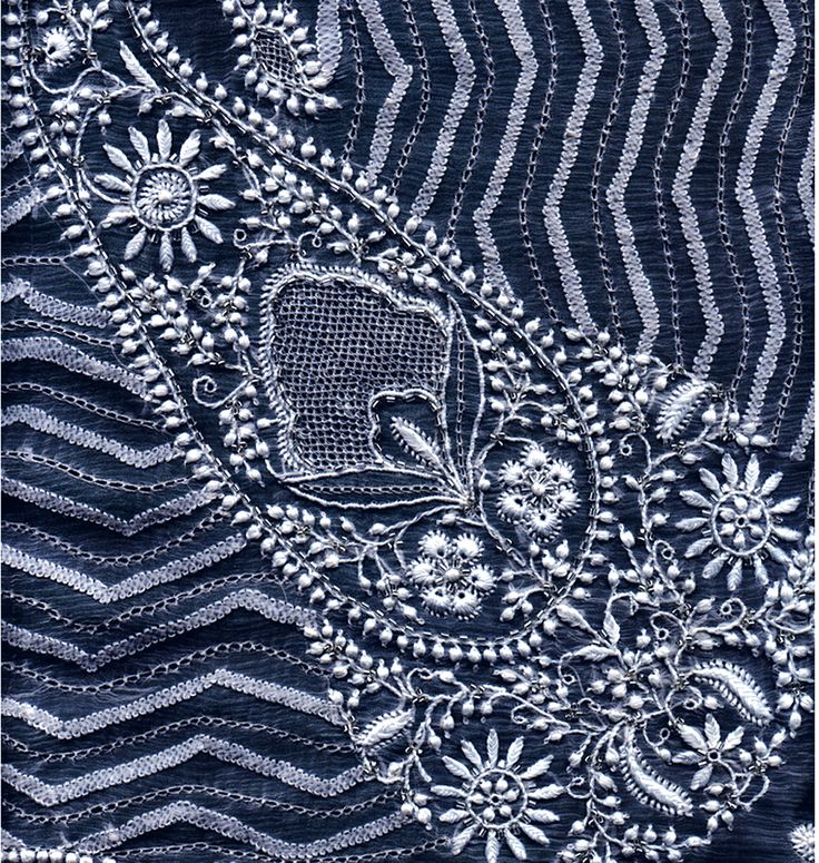 Chikankari Hand Embroidered Designs