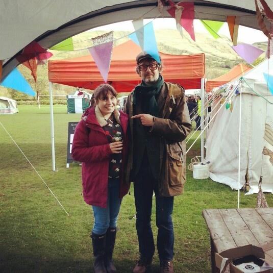 Met Jarvis Cocker at Edale Folk Festival!