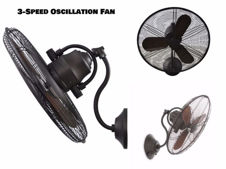 New 3-Speed Oscillating Indoor Outdoor 18 inch High Velocity Industrial Wall Fan #HarborBreeze