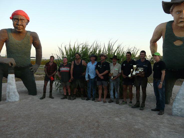 2016 Grand Final Competitors, Wilmar Sugar Australian Hand Cane Cutting Championships. Home Hill, Burdekin, North Queensland.