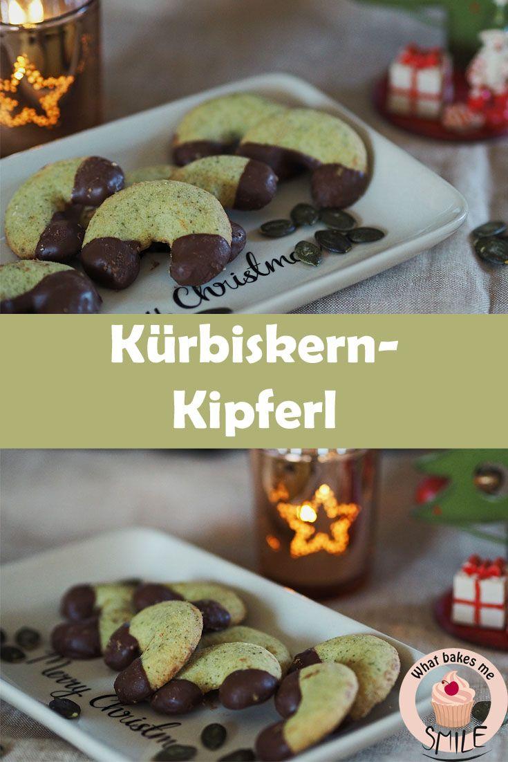 Echt steirische Weihnachtskekse: Grüne Kürbiskernkipferl