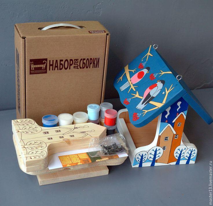 """Купить Кормушка для птиц """"Зимняя"""" в виде набора для сборки с красками - кормушка, набор для творчества, зимняя"""