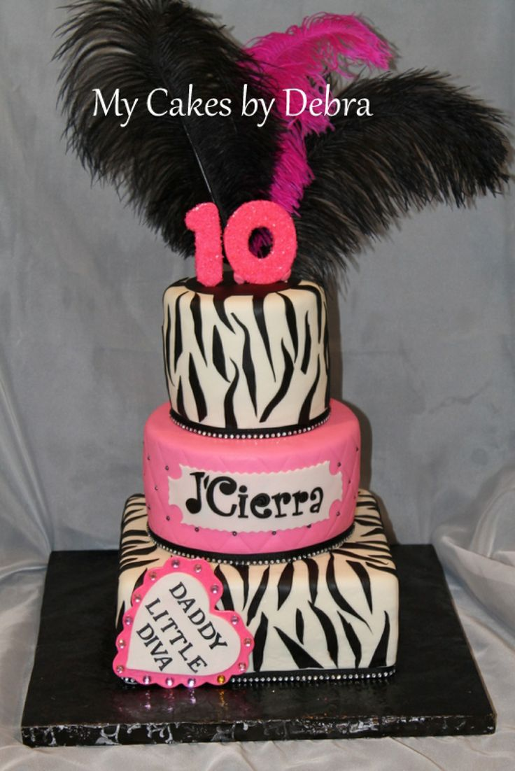 cakes for girls 10th birthday | 10th birthday cake a little Diva cake. i WANT IT