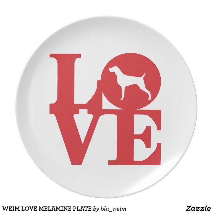 WEIM LOVE MELAMINE PLATE