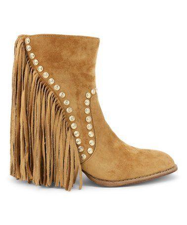 7ee2eca5e17 Loving this Camel Ivanna Embellished Bootie - Women on  zulily!  zulilyfinds