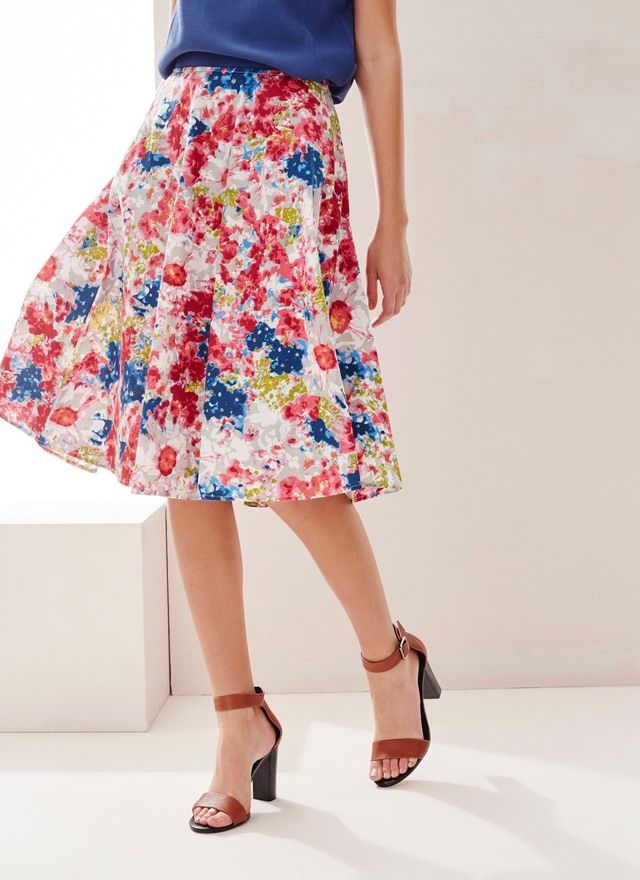Adolfo Dominguez Floral Print Skirt | The LV Guide