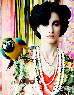 Parrot fashion editorial
