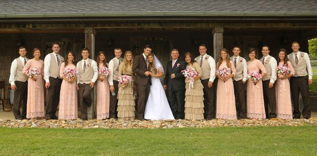 Michaela Bates and Brandon Keilen wedding party