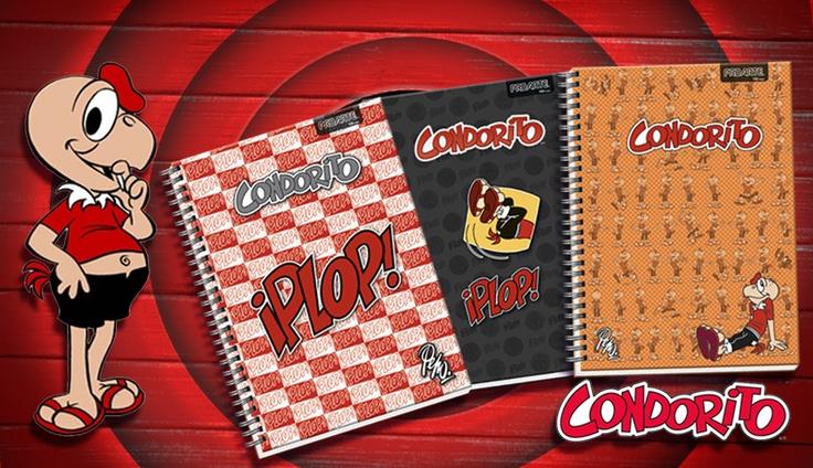 Línea de cuadernos Condorito 2013, Proarte.