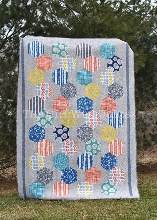 (7) Name: 'Quilting : Hexie Chains Quilt Pattern
