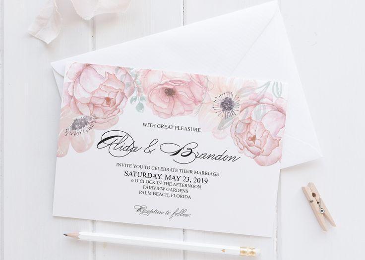 invitatie de nunta floral