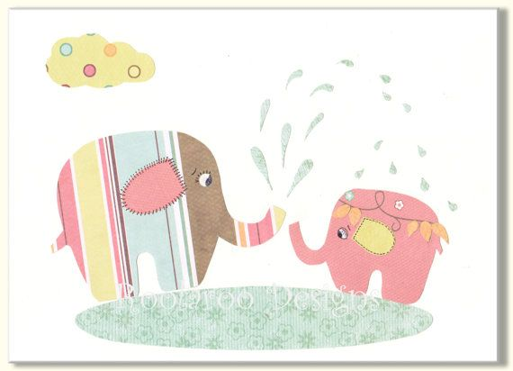 Elephant+Baby+Shower+Decoration+Kids+Wall+Art+by+SnoodleBugs,+$12.00