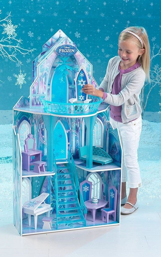 Disney Frozen Movie Wooden Ice Castle For Barbie Style Dolls Large
