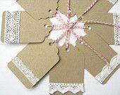 Artículos similares a Etiquetas de regalo 8 etiquetas de regalo hecho a mano - boda favor etiquetas, vacaciones en Etsy