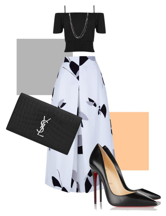 """Untitled #6"" by sophie-delaney-1 on Polyvore featuring TIBI, WearAll, Christian Louboutin, Yves Saint Laurent, David Yurman, women's clothing, women, female, woman and misses"