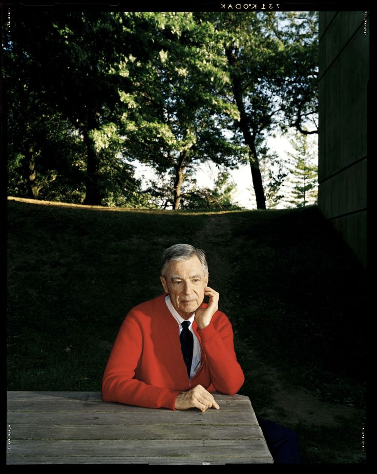 Awesome portraits of Fred Rogers by Dan Winters || rockin' the cardigan and tie since 1968 #historicalswag