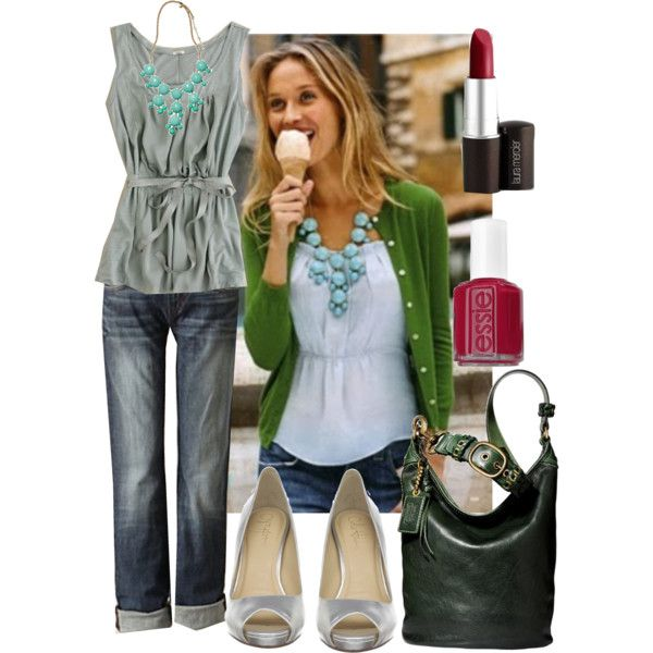 """my favorite necklace! one of my favorite Essie colors too! """"Raspberry"""" and of course a cardigan! :)"""