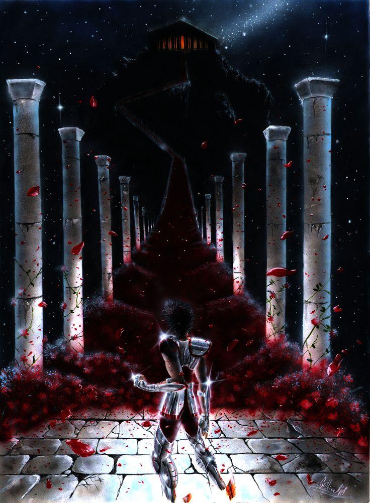 Seiya, Escadaria ao salão do Grande Mestre