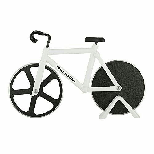 Bicycle Pizza Cutter – TOUR de PIZZA – Dual Stainless Steel Non-Stick Cutting Wheels