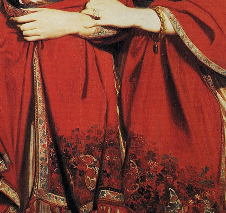 Theodore Chasseriau, The Two Sisters (1843) detail