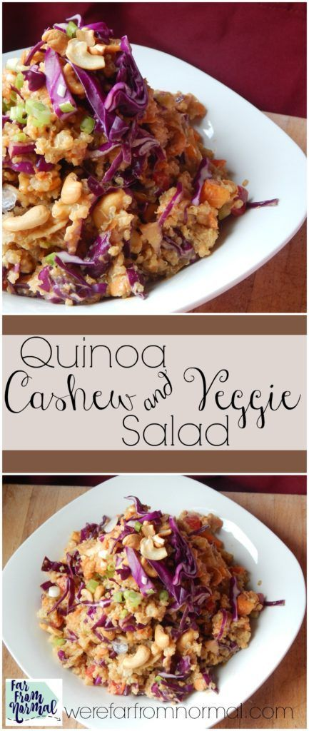 This salad makes the perfect meatless meal or side dish!! Full of quinoa, veggies and a little Asian flair it's so flavorful with a nice amount of crunch!