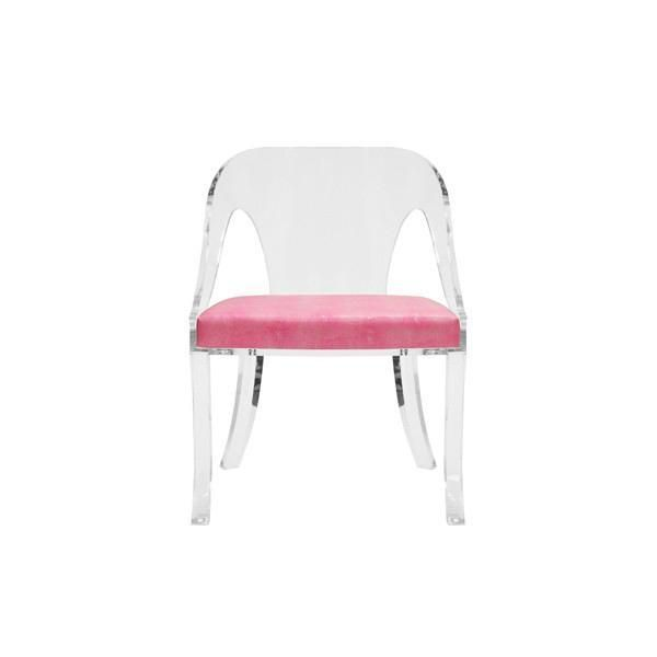 Worlds Away Jolie Acrylic Dining Chair Acrylic Dining Chairs