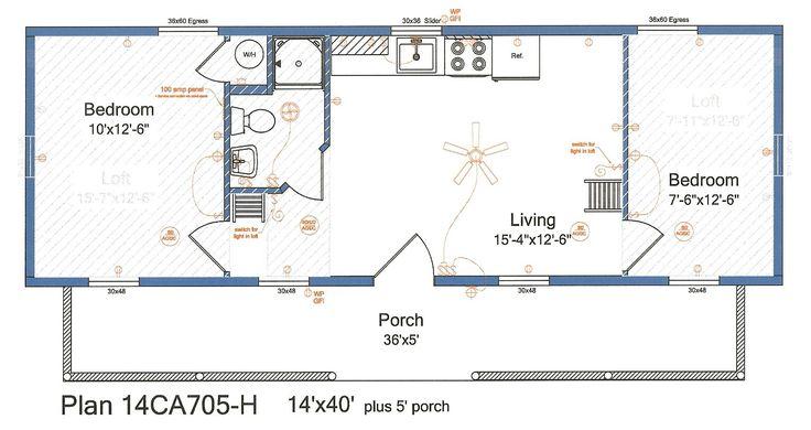 14x40 cabin floor plans tiny house pinterest cabin for 16x40 floor plans