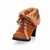 Beautiful Suede Chunky Heel Boots With Lace-up Party/Evening Shoes (More Colors)