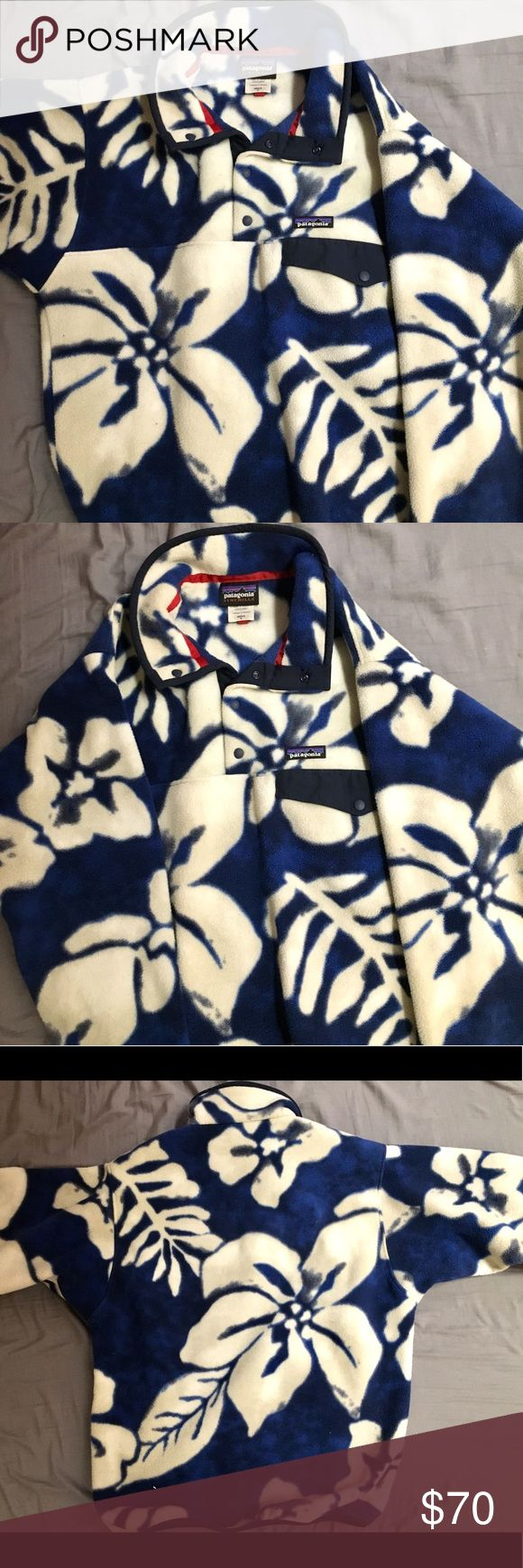 Patagonia fleece pullover jacket Barely used floral Patagonia fleece pullover!                    Size: Men's small Patagonia Jackets & Coats