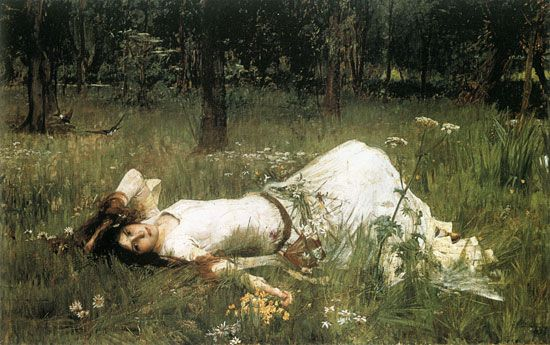 Flore en Valois: John William Waterhouse, Ophelia, 1889