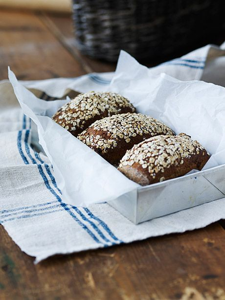 Økologiske mini rugbrød med chokolade ....