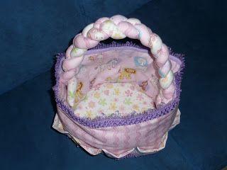 Improvvisamente...creativa!: Che fatica i regali! Questo é un cestino porta tutto per neonata.