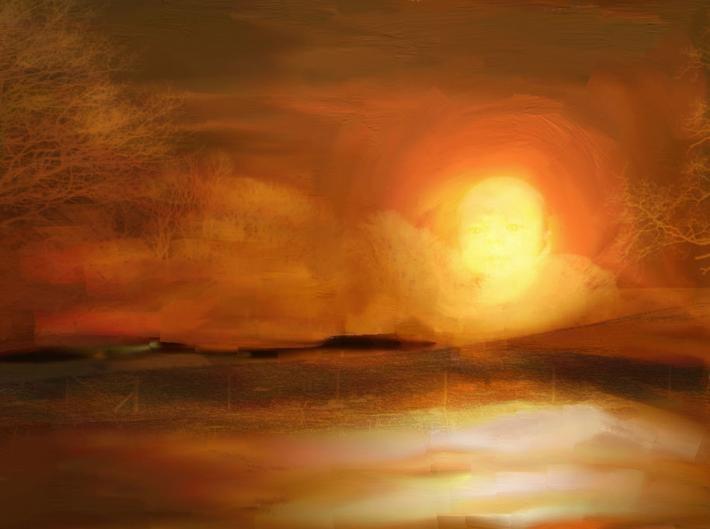 abstract autumn sky