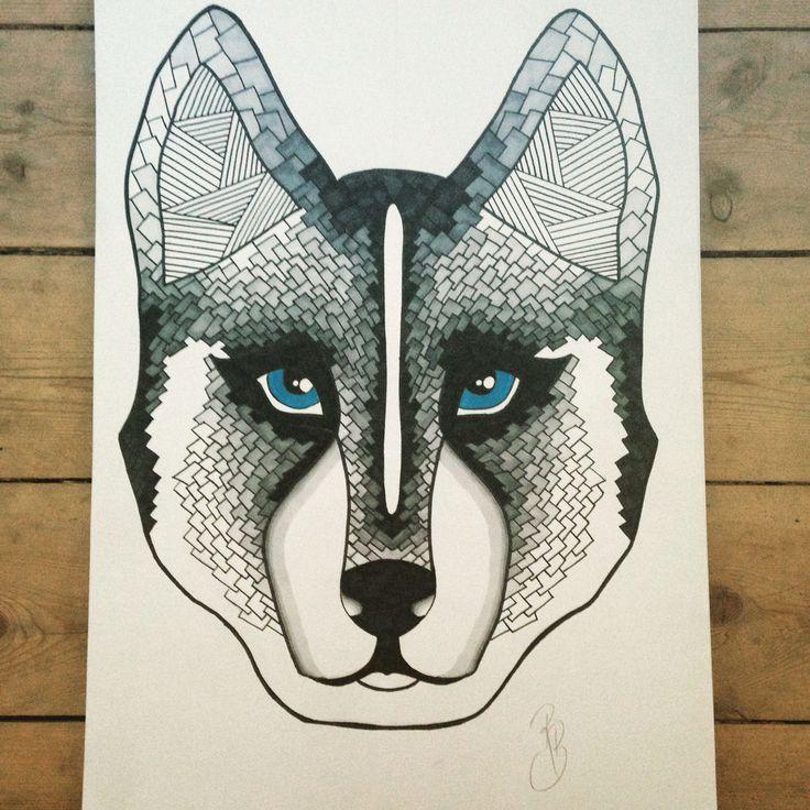 Sibirien husky illustration