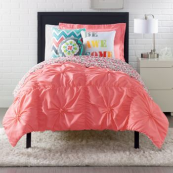 Simple by Design Technique Bedding Coordinates at Kohl's...coral tufted comforter (King $49.99)