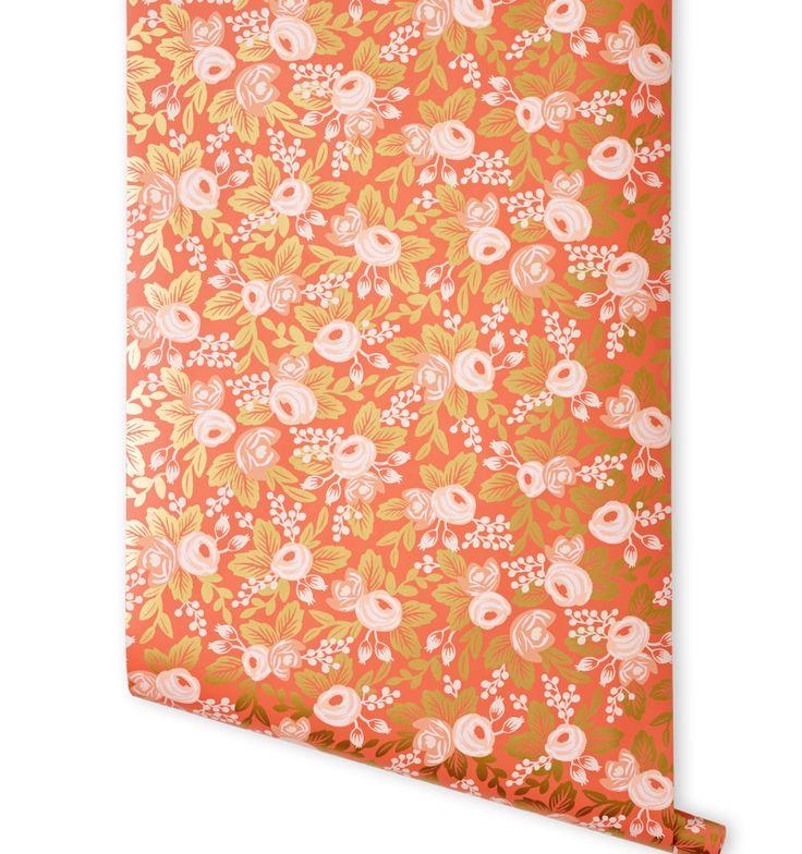 Rosa (Persimmon) Wallpaper