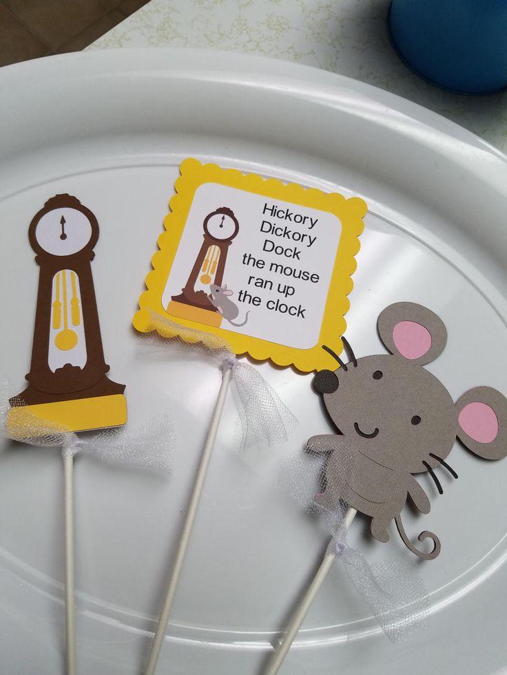 Nursey Rhyme Centerpiece sticks, Nursery rhyme baby shower decorations, nursery rhyme party by MindysPaperPiecing on Etsy