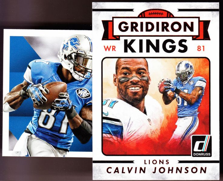 DETROIT LIONS LOT OF 2 2015 CALVIN JOHNSON SCORE FRANCHISE & GRIDIRON KINGS RED #DetroitLions