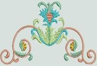BFC-Creations Machine Embroidery Ancient Italian Tiles Centerpiece Borders and Corners and Free Design