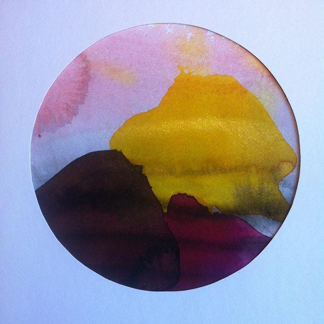 #lonehartmann #akvarel #watercolor #mixedmedia #circle #art