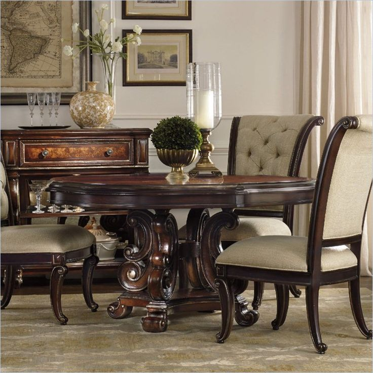 Grand Palais Round Pedestal Dining Table in
