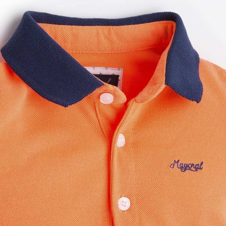 Mayoral Erkek Bebek Yazlık Polo Kısa Kol T-shirt Baskılı Şort Set Turuncu