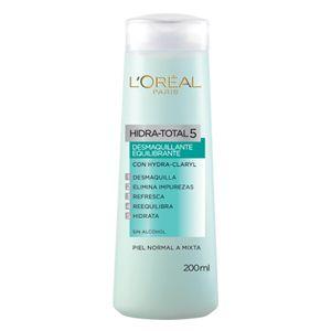 ¿Piel grasa? Prueba la leche desmaquillante, de Hidra Total 5, que LOreal Paris tiene para ti. 5 Beneficios para tu piel.