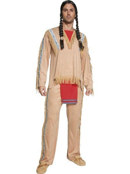 Naamiaisasu; Intiaani  Intiaanin asu standardikokoisena, komia… Pehmeää säämiskäpintaista kangasta. #naamiaismaailma