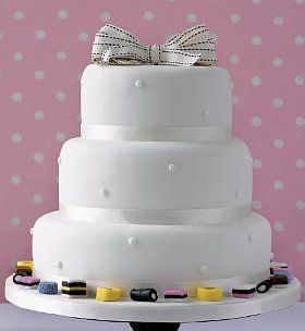 Romantic Pearl Fruit Wedding Cake Ivory Icing