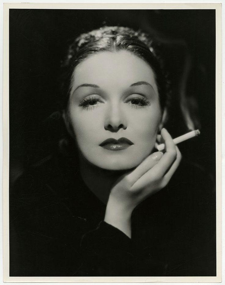 Smoking Femme Fatale Gail Patrick Vintage Large Format Art Deco Photograph 1935