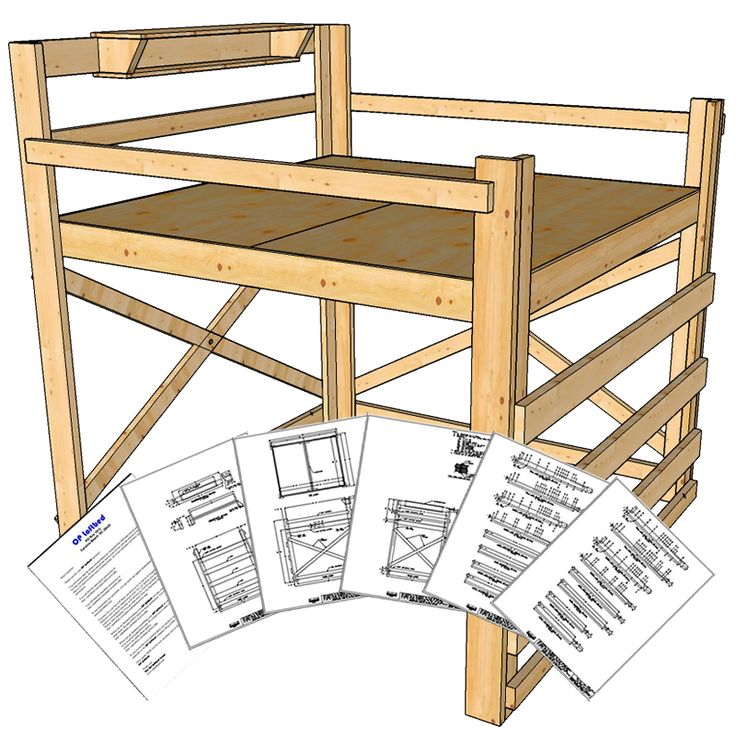These loft bed plans are designed for King size mattresses and is perfect the couple that is looking to gain floor space by adding a loft bed. The OP Loftbed is designed to be rock-solid and can easily support two people. The bed can be built in a day by someone with minimal woodworking skills. …