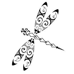 Maori dragonfly tattoo - like the general shape