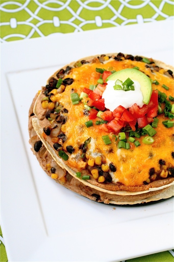 Bean and Tortilla Pie - - taken from: http://pinned-recipes.com